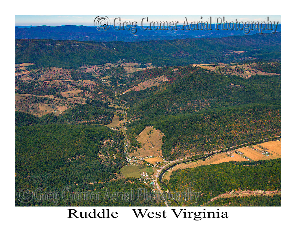 Aerial Photo of Ruddle, West Virginia