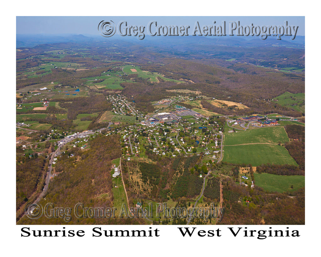 Aerial Photo of Sunrise Summit, West Virginia