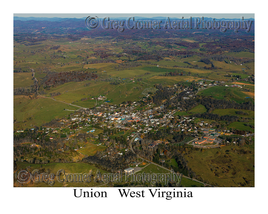 Aerial Photo of Union, West Virginia
