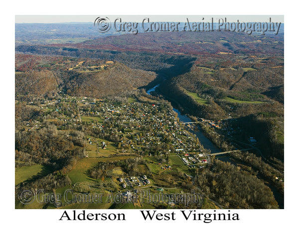 Aerial Photo of Alderson, West Virginia