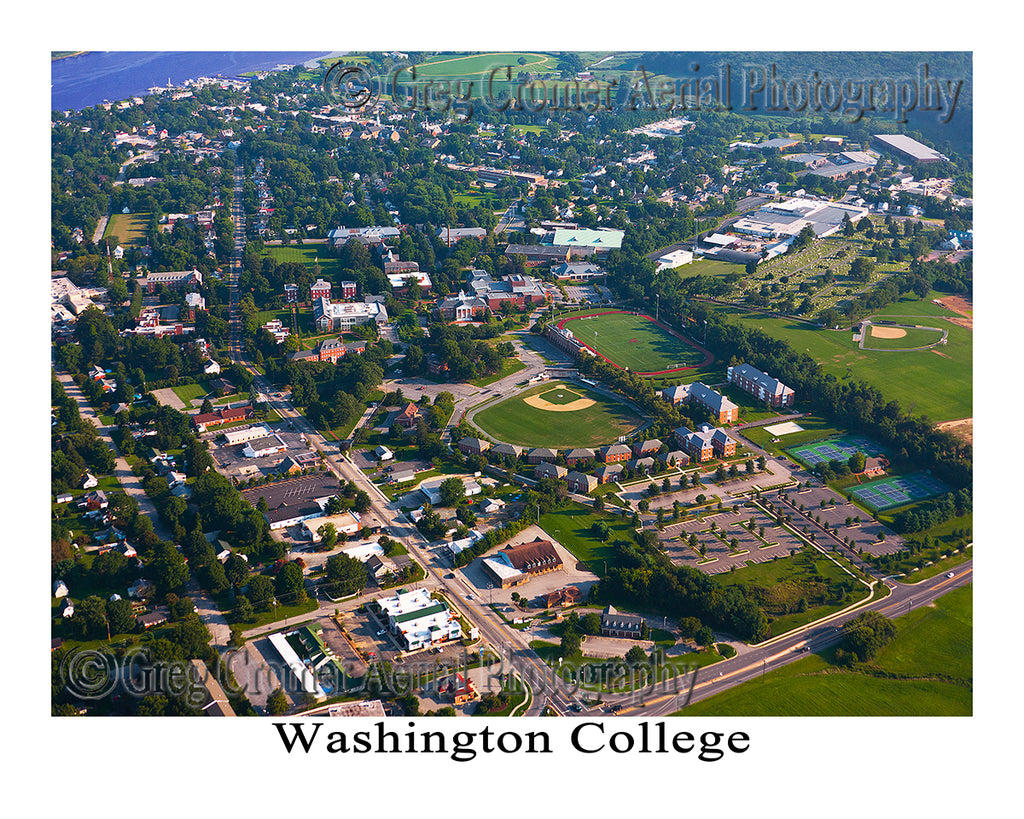 Aerial Photo of Washington College - Chestertown - Maryland