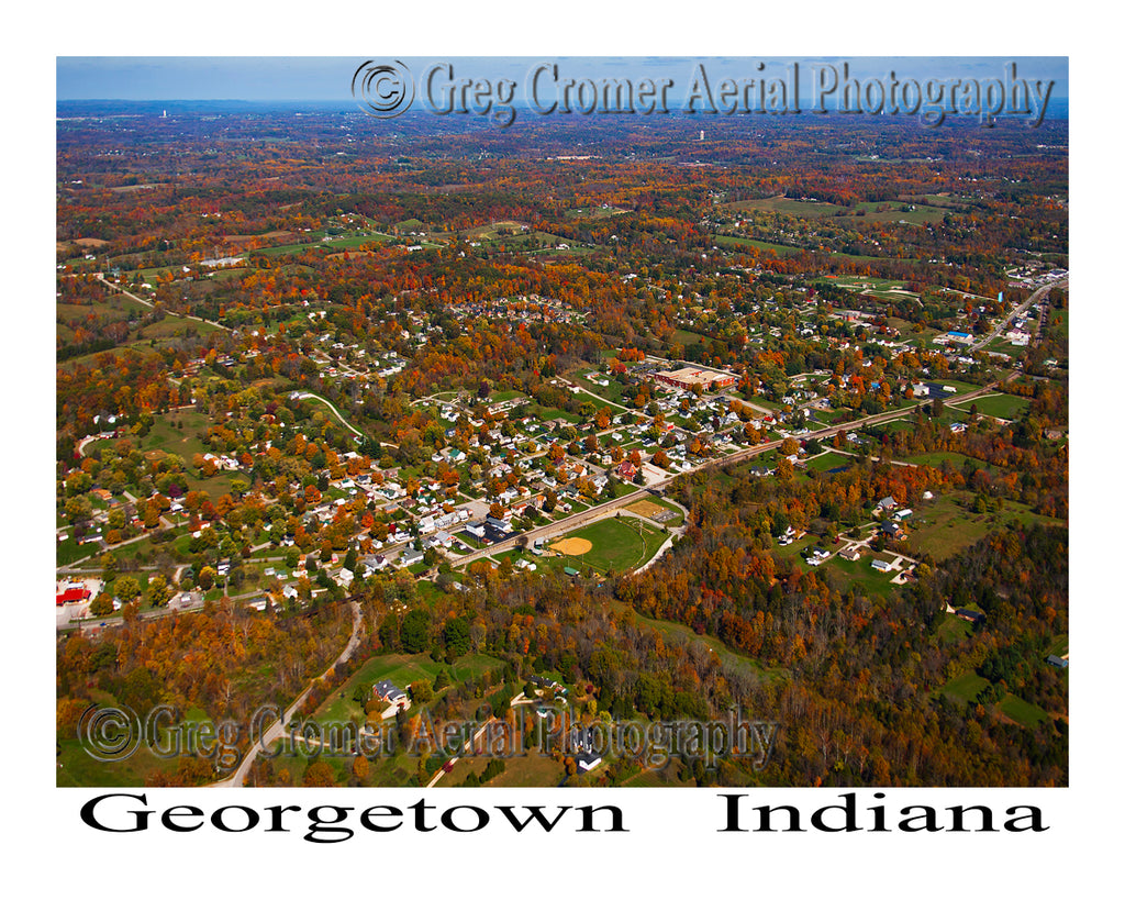 Aerial Photo of Georgetown, Indiana