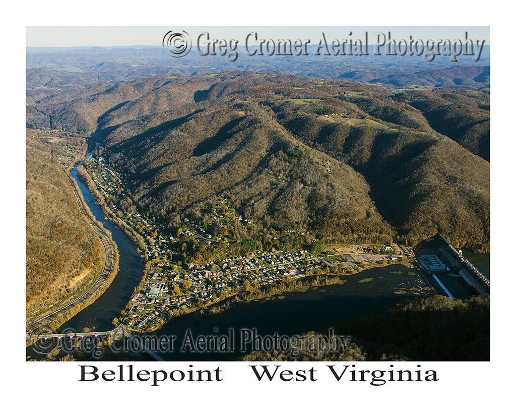 Aerial Photo of Bellepoint, West Virginia
