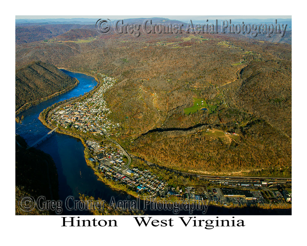 Aerial Photo of Hinton, West Virginia