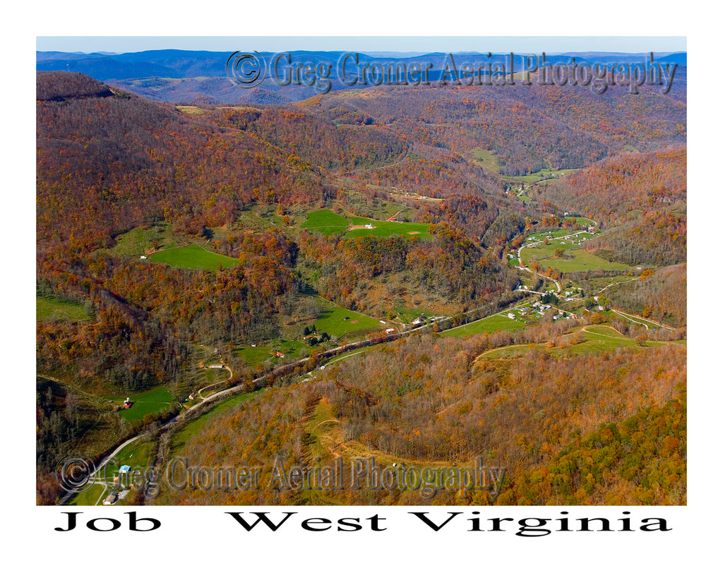 Aerial Photo of Job, West Virginia
