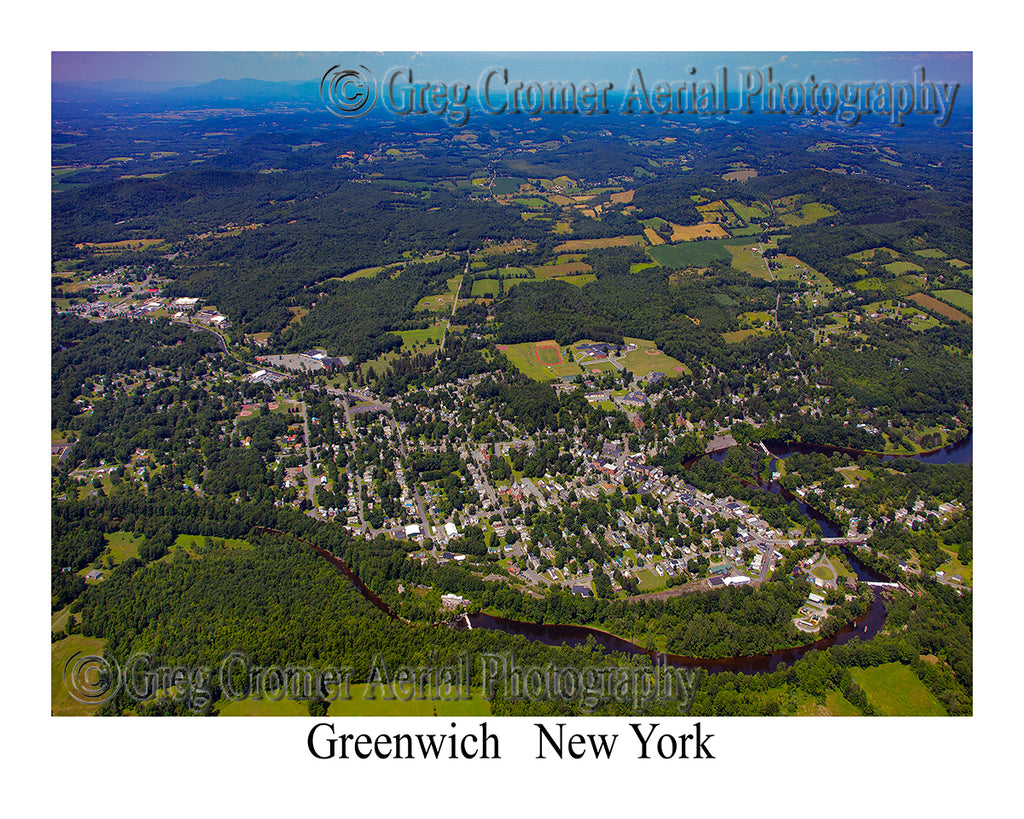 Aerial Photo of Greenwich, New York