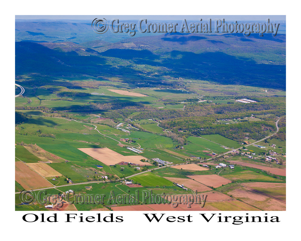 Aerial Photo of Old Fields, West Virginia
