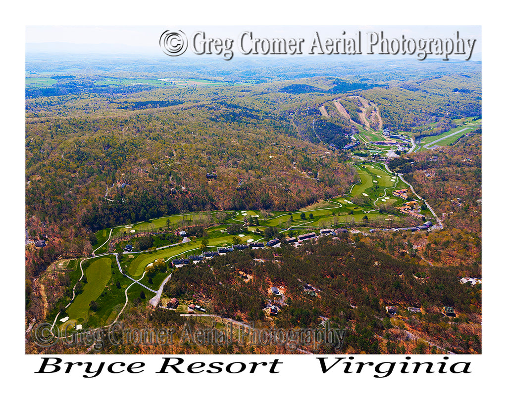 Aerial Photo of Bryce Resort - Bayse, Virginia