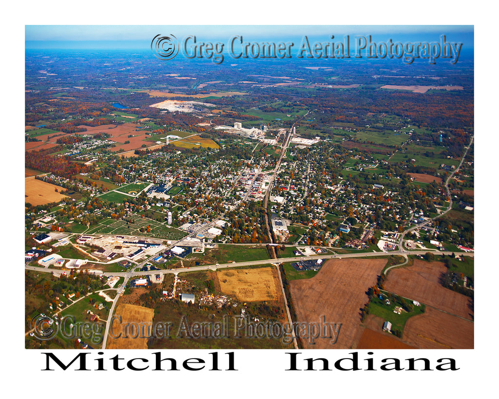 Aerial Photo of Mitchell, Indiana
