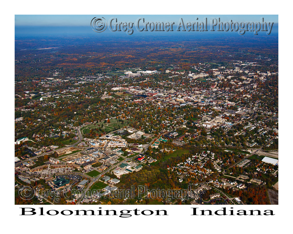 Aerial Photo of Bloomington, Indiana