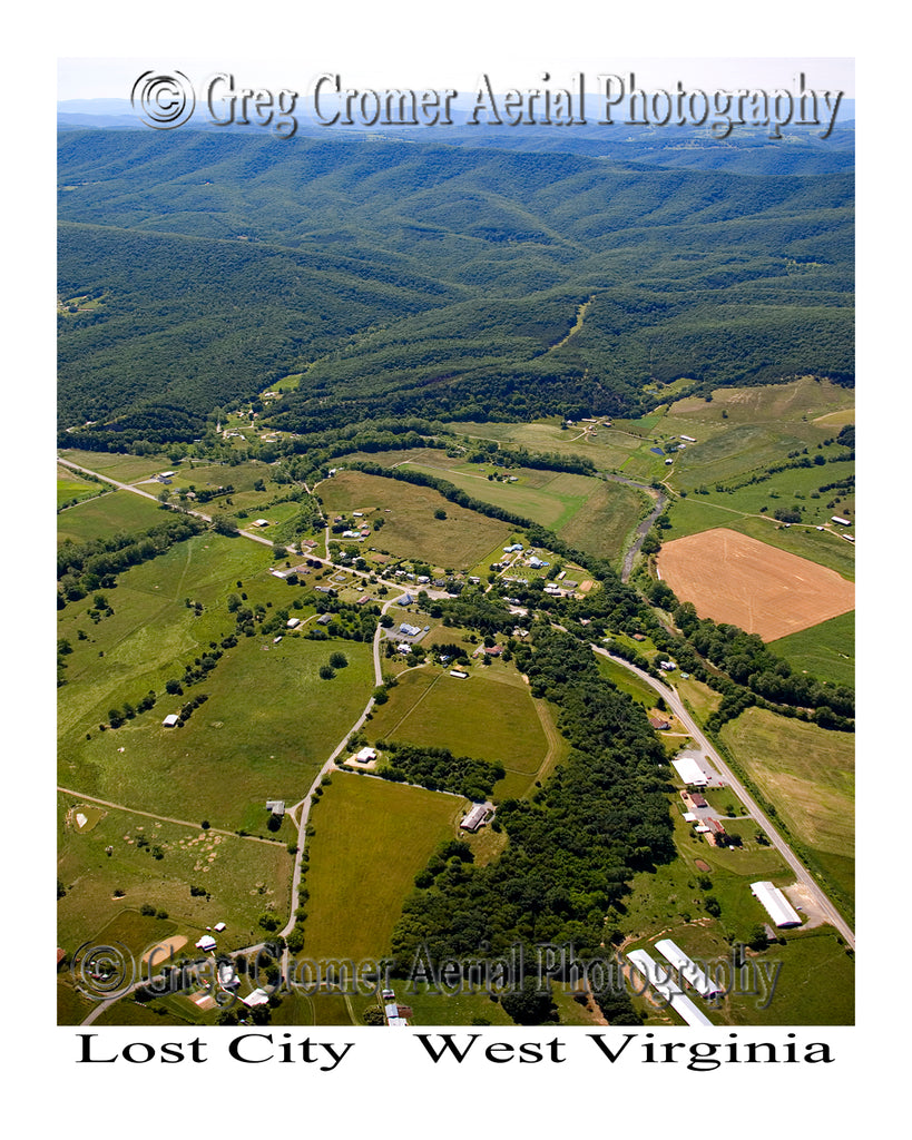 Aerial Photo of Lost City, West Virginia