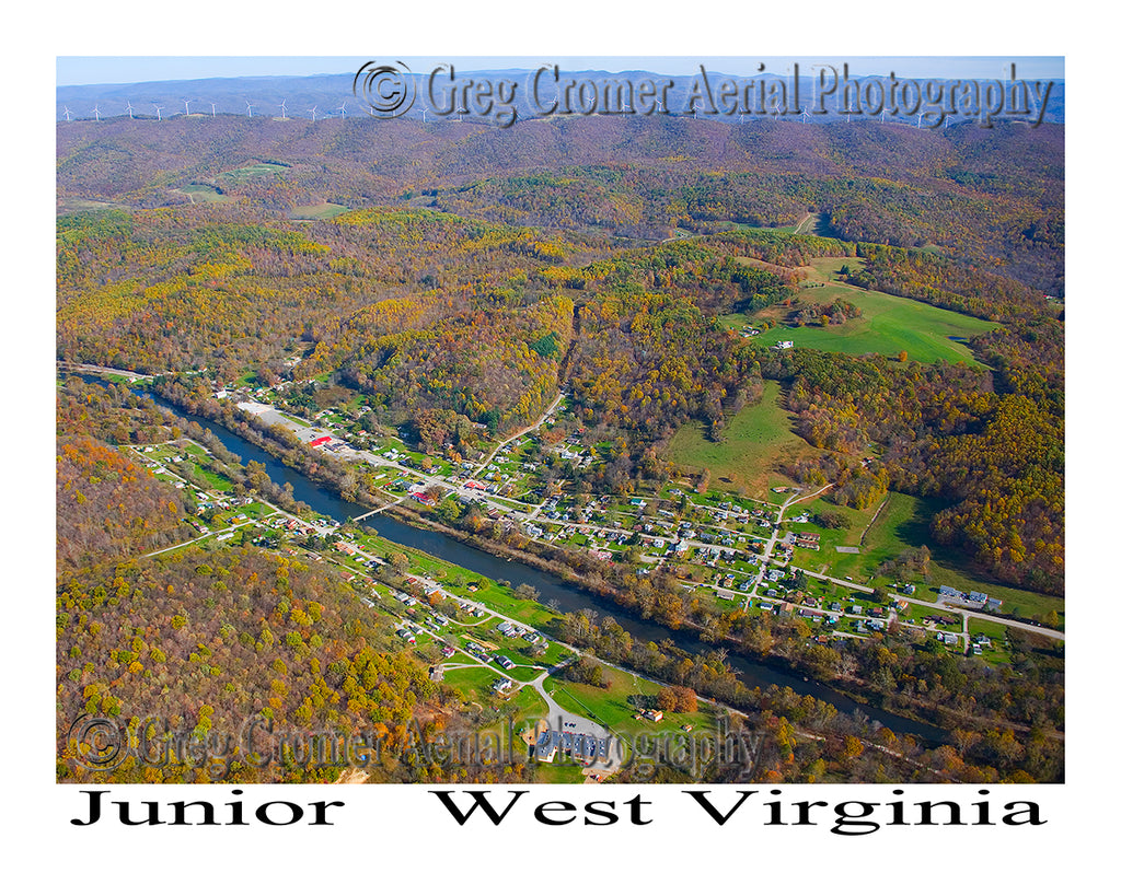 Aerial Photo of Junior, West Virginia