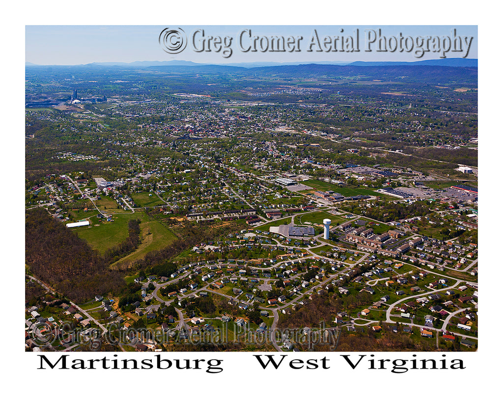 Aerial Photo of Martinsburg, West Virginia