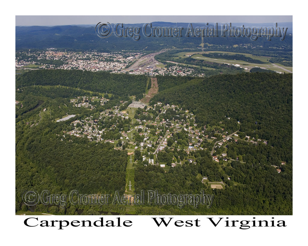 Aerial Photo of Carpendale, West Virginia