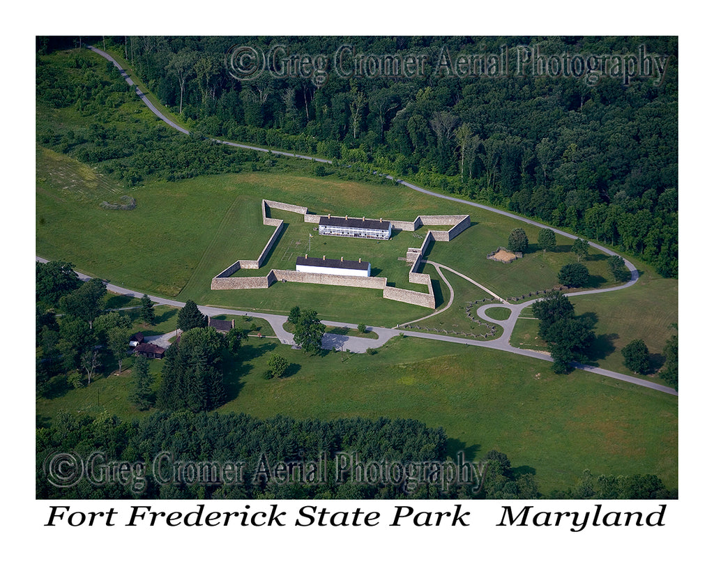 Aerial Photo of Fort Frederick, Maryland