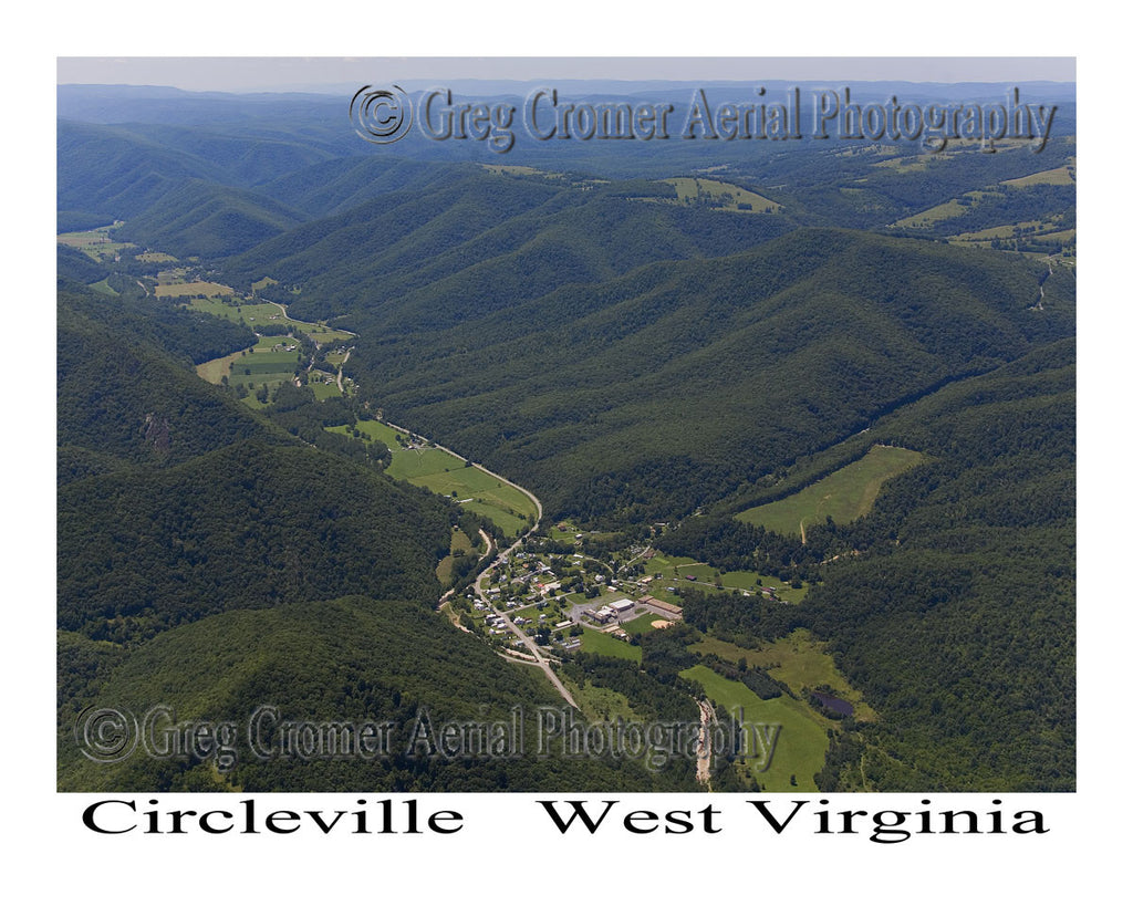 Aerial Photo of Circleville, West Virginia
