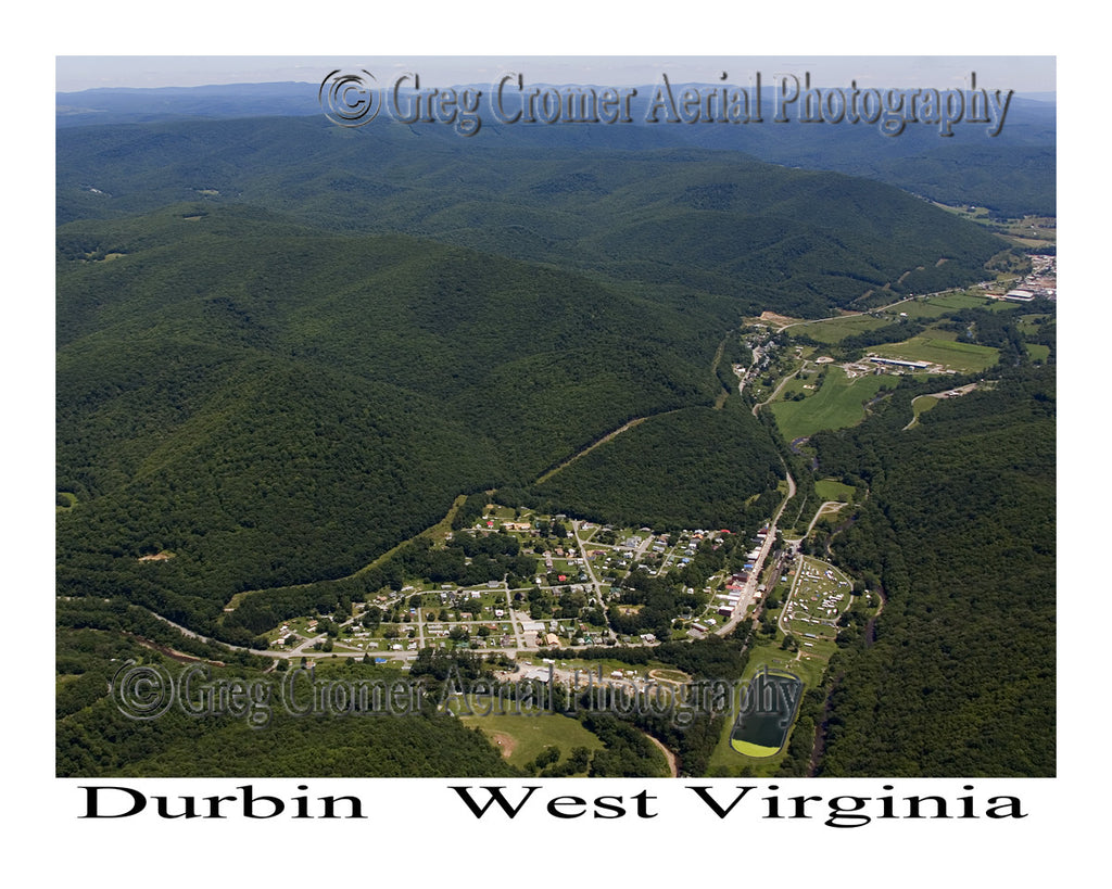 Aerial Photo of Durbin, West Virginia