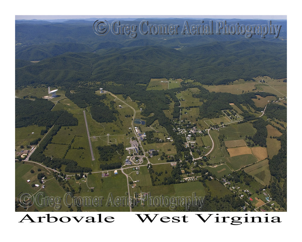 Aerial Photo of Arbovale, West Virginia