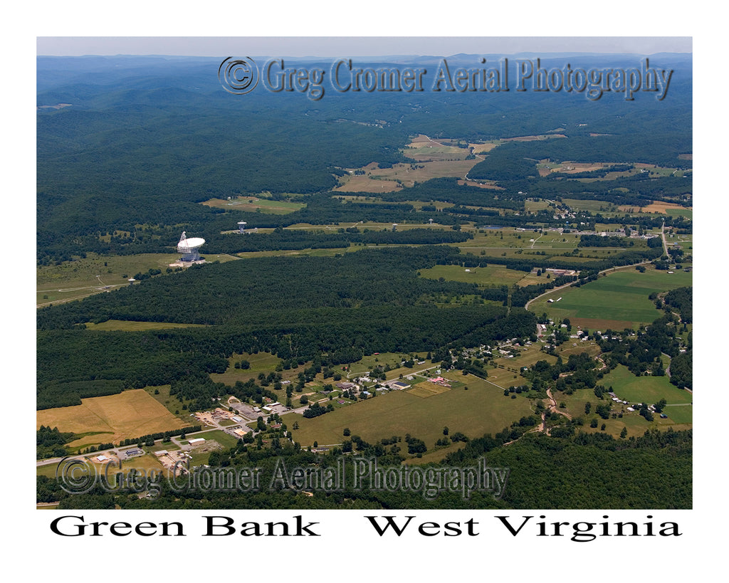 Aerial Photo of Green Bank, West Virginia