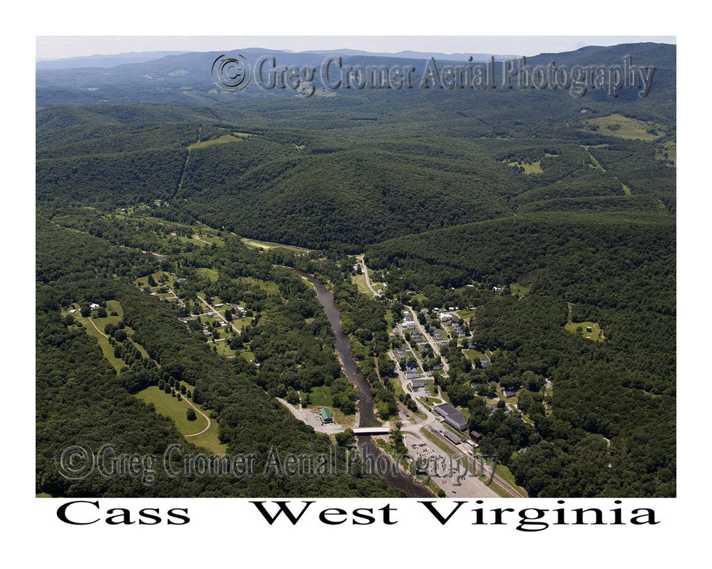 Aerial Photo of Cass, West Virginia