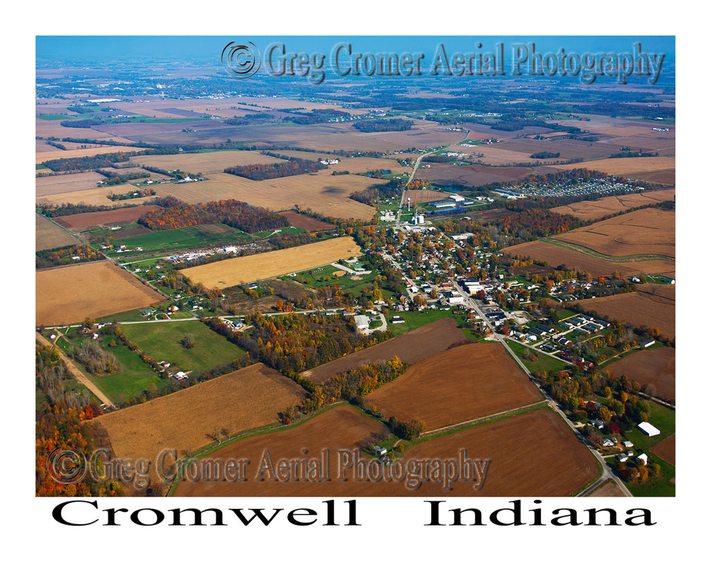 Aerial Photo of Cromwell, Indiana