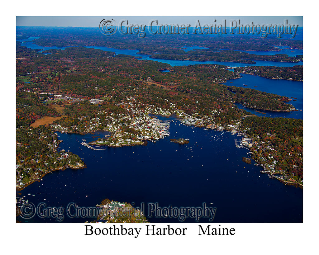Aerial Photo of Boothbay Harbor, Maine