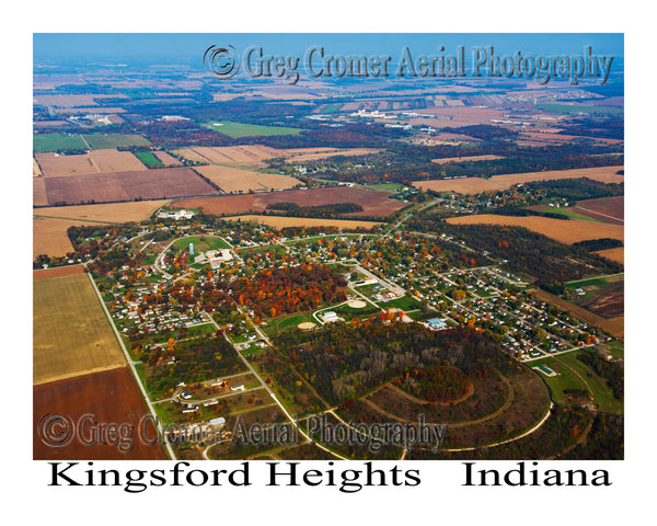 Aerial Photo of Kingsford Heights, Indiana