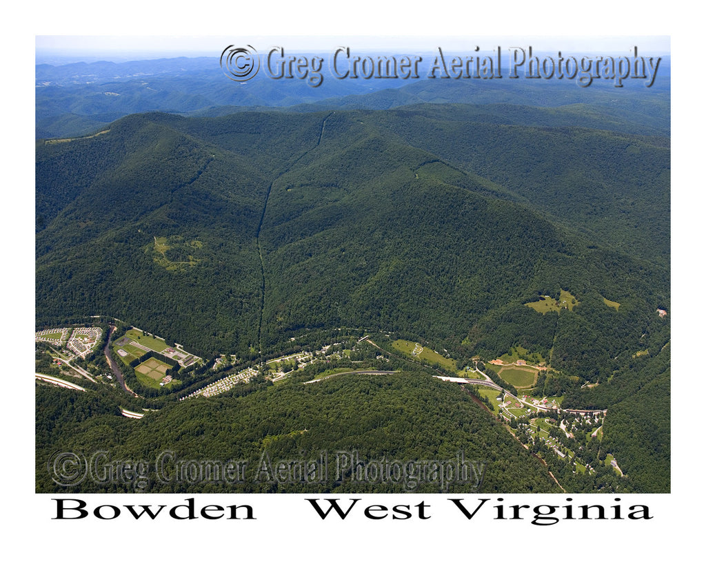Aerial Photo of Bowden, West Virginia