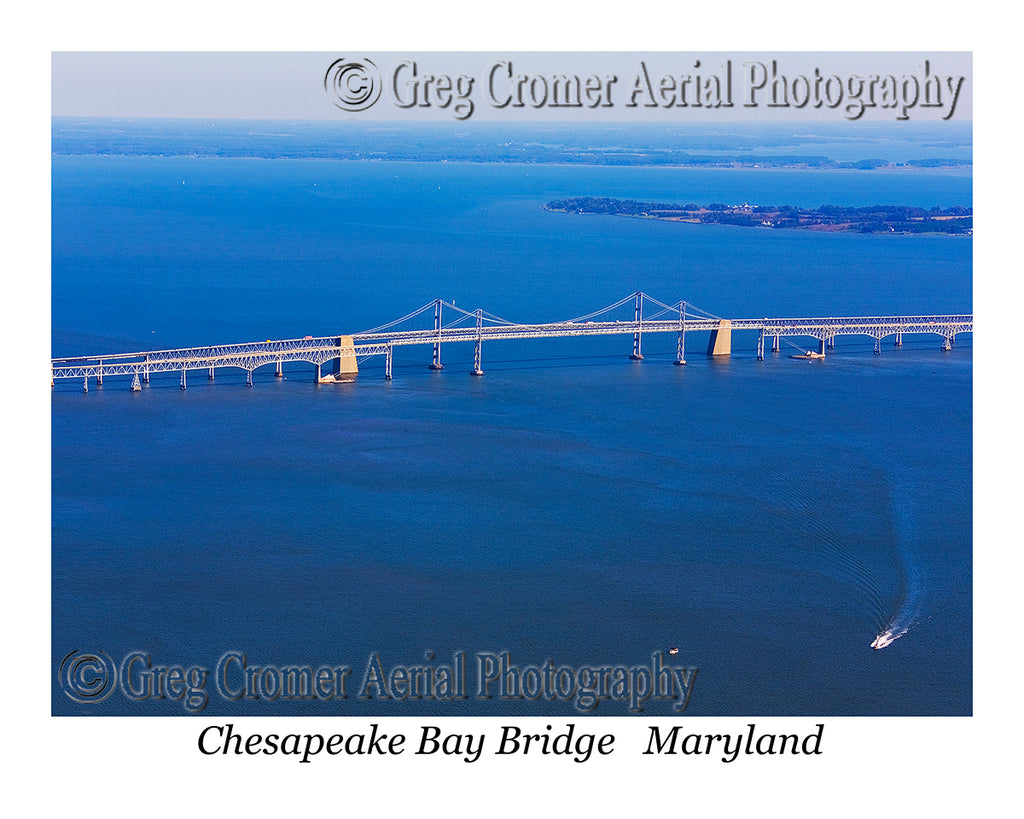 Aerial Photo of Chesapeake Bay Bridge, MD
