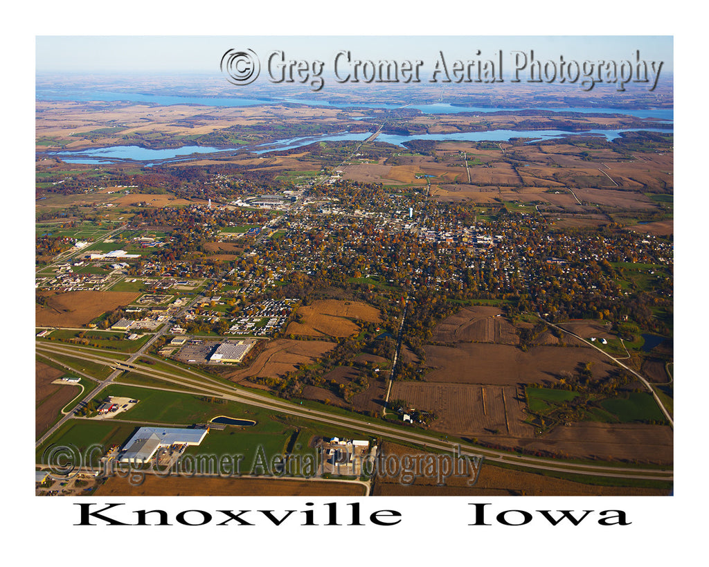 Aerial Photo of Knoxville Iowa