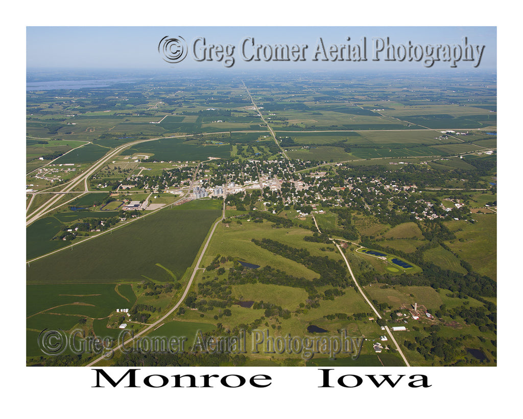 Aerial Photo of Monroe Iowa