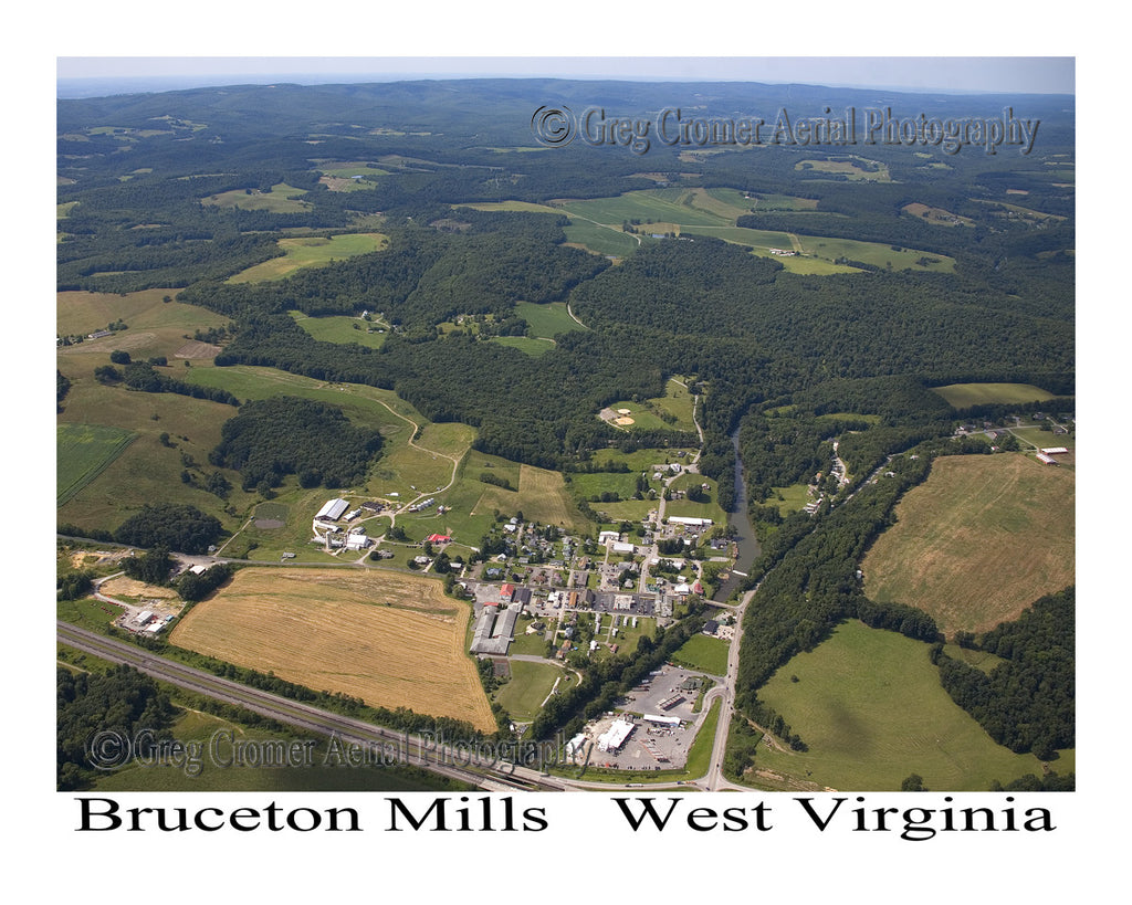 Aerial Photo of Bruceton Mills, West Virginia