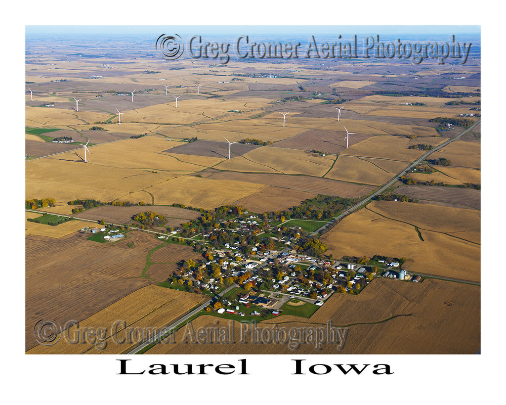 Aerial Photo of Laurel Iowa