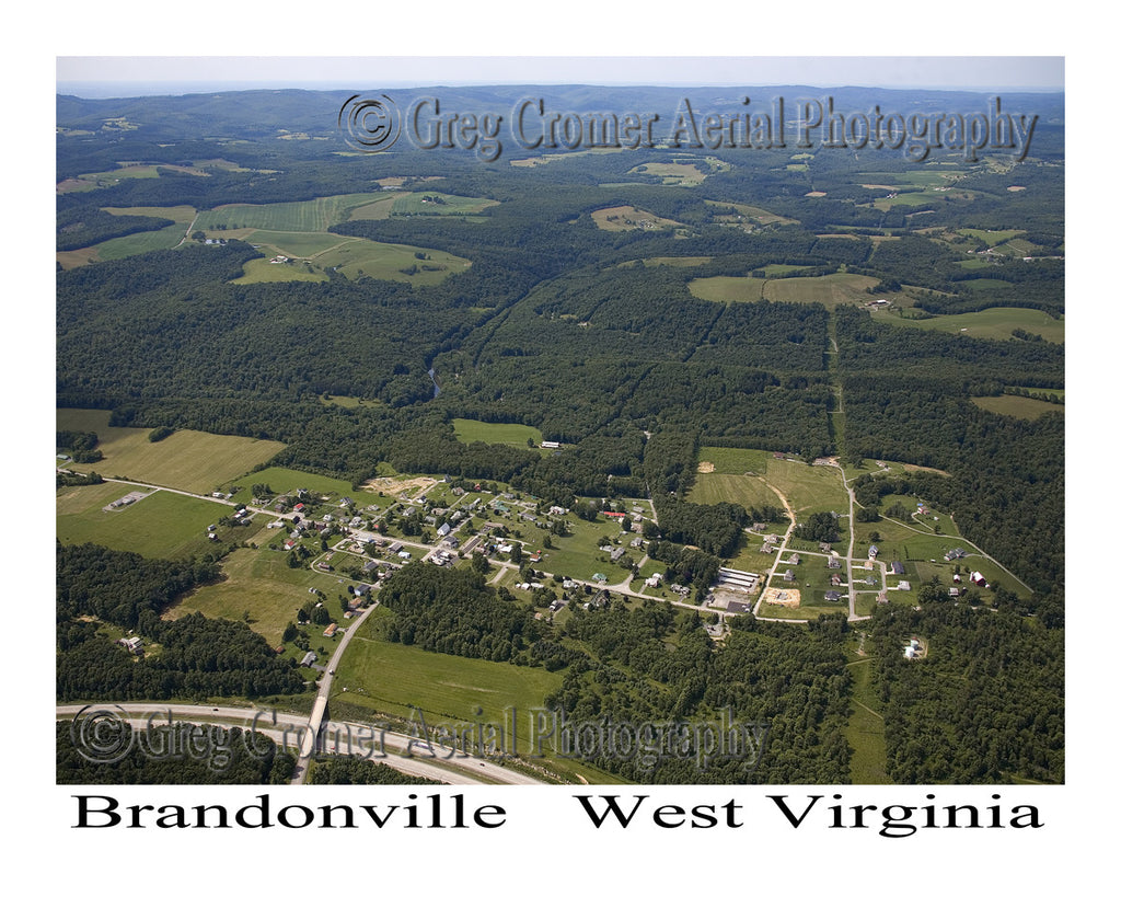Aerial Photo of Brandonville, West Virginia