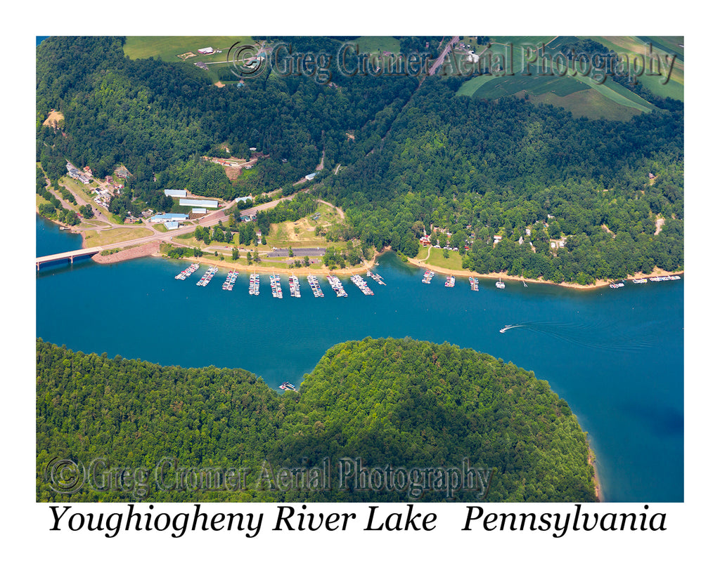 Aerial Photo of Youghiogheny River Lake Marina, Pennsylvania