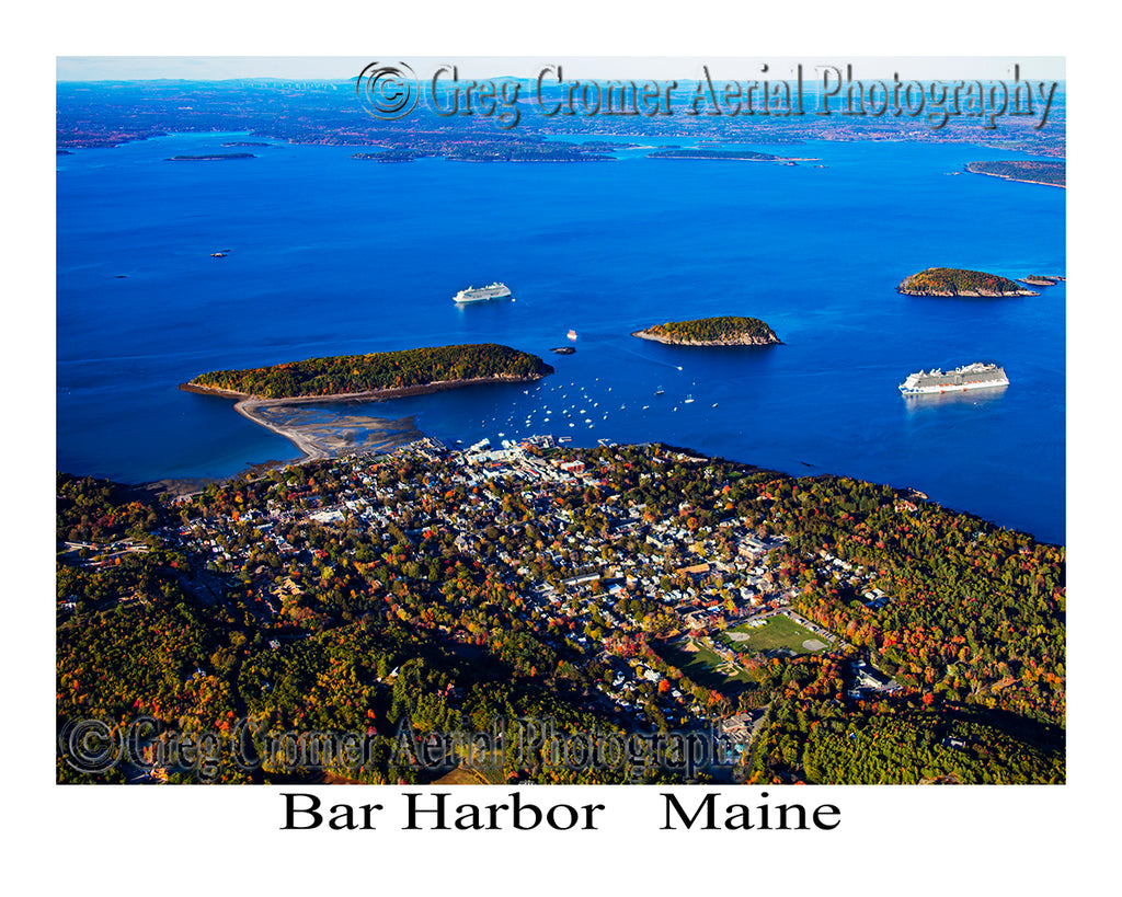 Aerial Photo of Bar Harbor, Maine