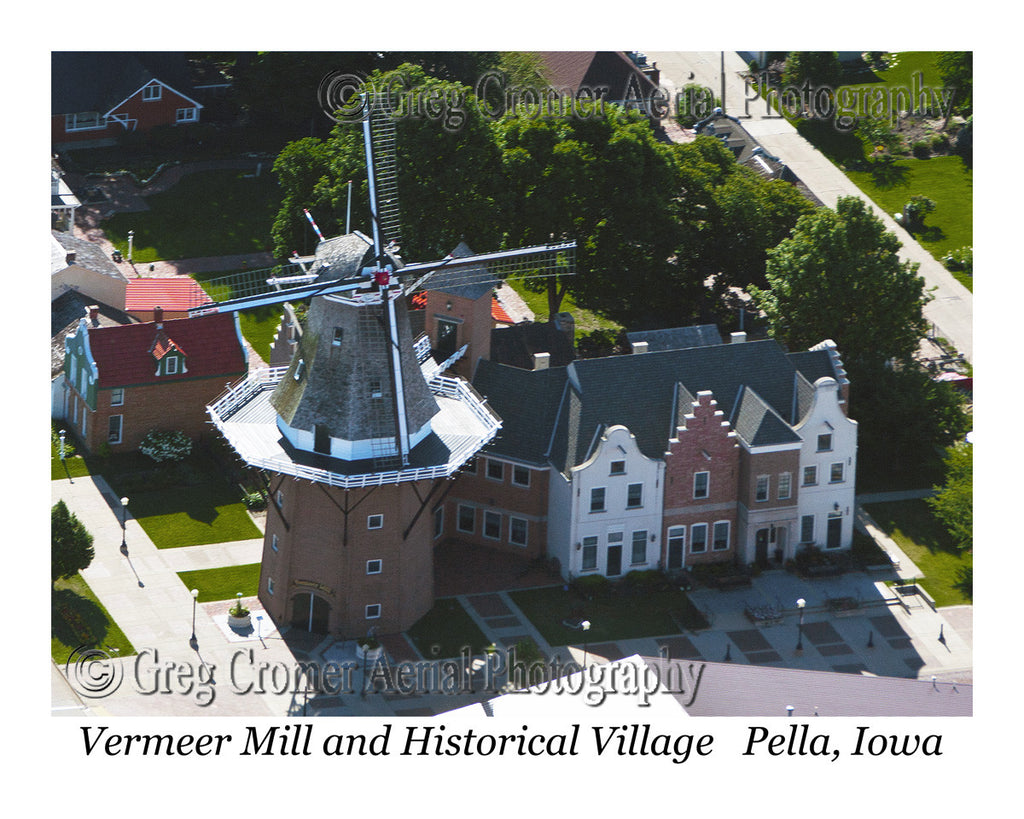 Aerial Photo of Vermeer Windmill - Pella, Iowa