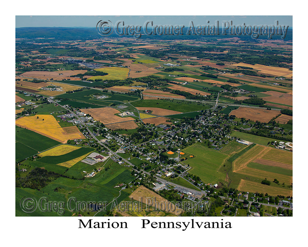 Aerial Photo of Marion, Pennsylvania