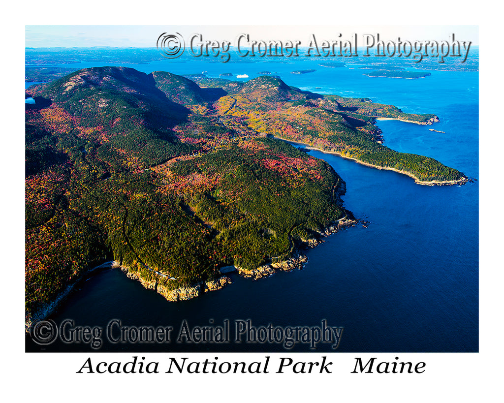 Aerial Photo of Acadia National Park, Maine
