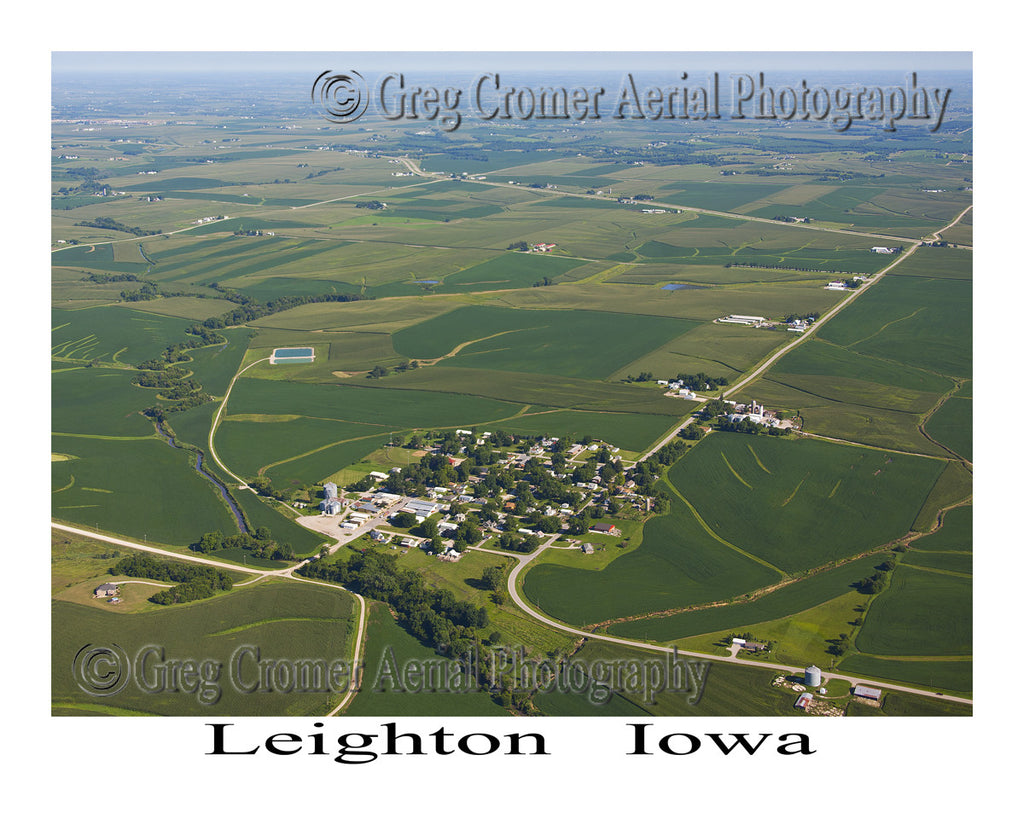Aerial Photo of Leighton Iowa