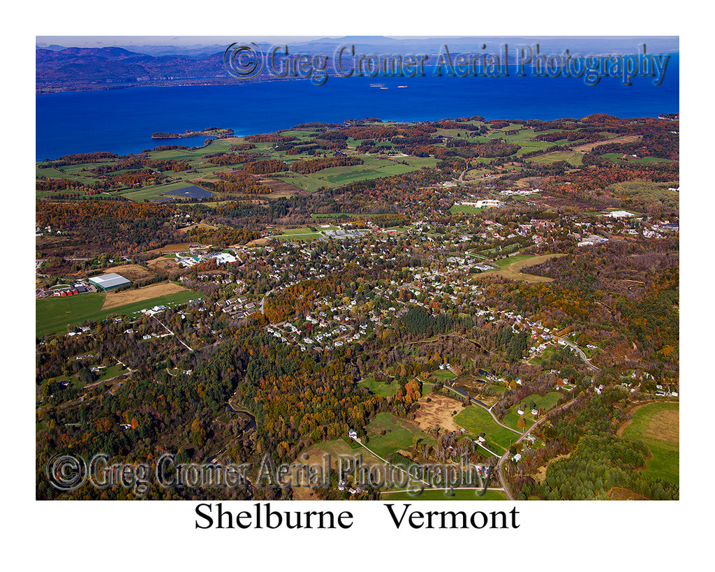 Aerial Photo of Shelburne, Vermont