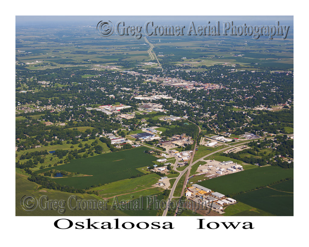 Aerial Photo of Oskaloosa Iowa