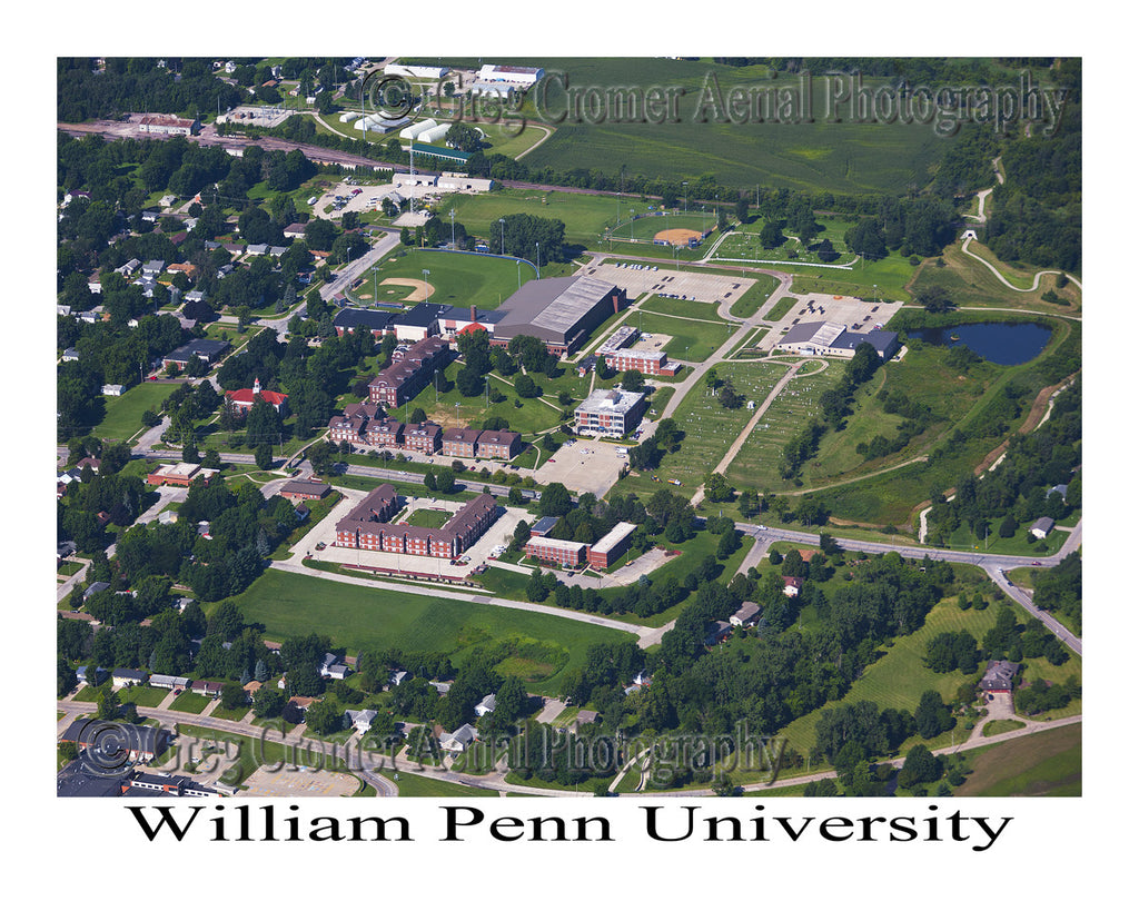 Aerial Photo of William Penn University, Oskaloosa, Iowa