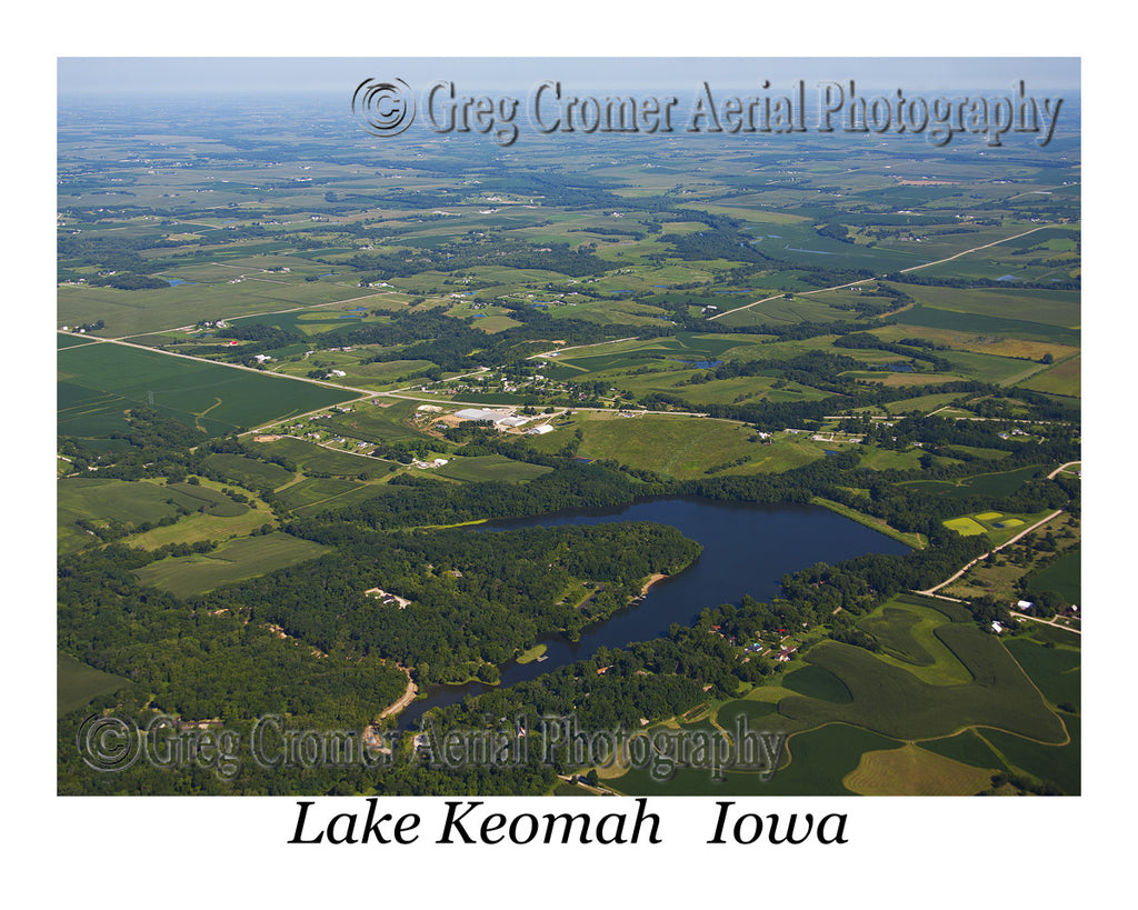 Aerial Photo of Lake Keomah Iowa