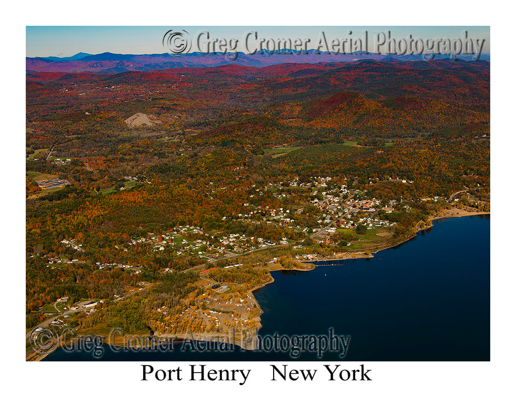 Aerial Photo of Port Henry, New York