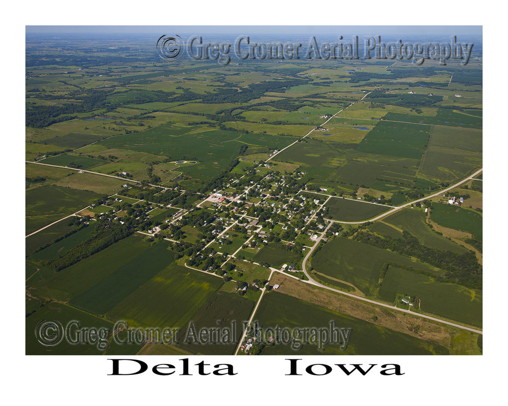 Aerial Photo of Delta Iowa
