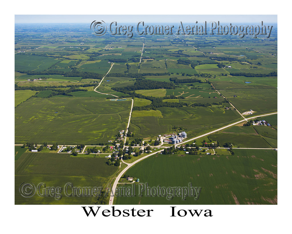 Aerial Photo of Webster Iowa