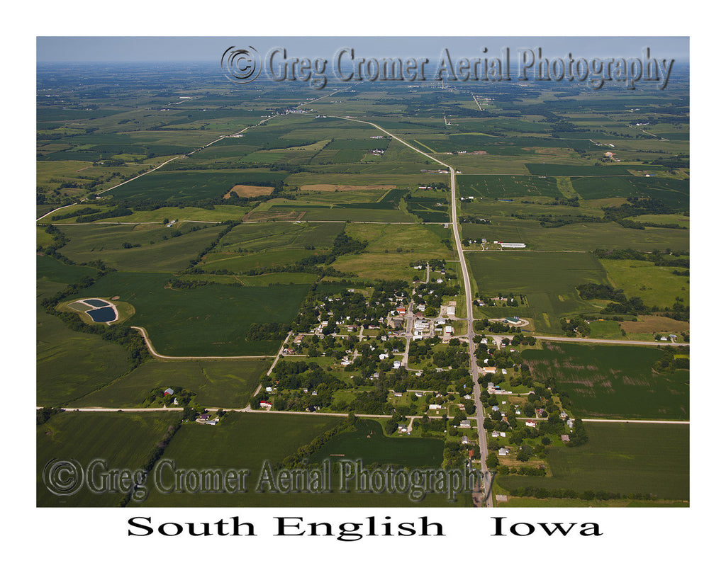 Aerial Photo of South English Iowa