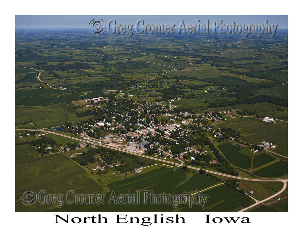 Aerial Photo of North English Iowa