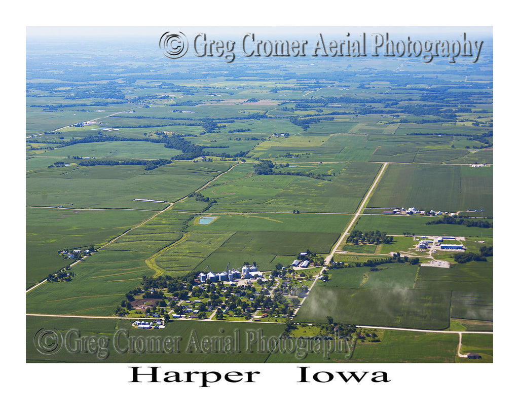 Aerial Photo of Harper Iowa